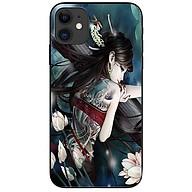 Ốp lưng da nh cho Iphone 12 Mini mẫu Girl Tatto thumbnail