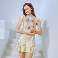 Đầm ngủ phi lụa cao cấp Wannabe DNS10 tay áo cánh tiên xòe nhẹ nữ tính thumbnail