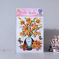 Bình hoa 3d trang trí phòng khách, tủ lạnh- Bình hoa 3D vàng thumbnail