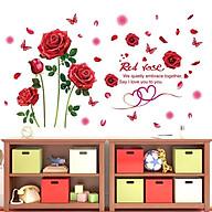 Decal dán tường Hoa hồng đỏ - HP123 thumbnail