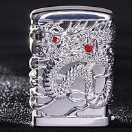 Hột Qụet Bật Lửa Xăng Đá 0985Y-CF Họa Tiết Rồng Mắt Đỏ Đẹp Độc Lạ - Dùng Xăng Bấc Đá Cao Cấp ( Giao màu ngẫu nhiên ) thumbnail
