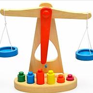 Cân học thăng bằng gỗ Montessori thumbnail