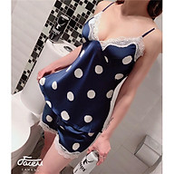 Bộ ngủ lụa 2 dây có lót ngực rời (hàng Quảng Châu vải Tơ lụa cao cấp) thumbnail