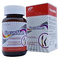 Bổ thận nam FocusMan - Chiết xuất từ Đông trùng hạ thảo giúp bổ thận tráng dương, tăng cường sinh lý nam, mạnh gân cốt. Lọ 60 viên. Sản phẩm đạt chuẩn GMP- WHO, được Sở Y Tế chứng nhận. thumbnail
