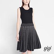 GIGI - Đầm mini cổ tròn không tay Stripe Skirt G2106202703S-65 thumbnail