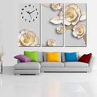 Tranh treo tường, tranh đồng hồ DH2480A bộ 3 tấm ghép thumbnail