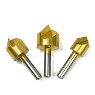Bộ 3 mũi doa lỗ khoan 12mm - 16mm - 19mm thép gió HSS phủ Titanium chuôi lục thumbnail