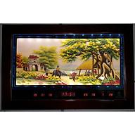 Lịch vạn niên, tranh đá quý đèn Led ,Quán Lá Cổng Làng -2054 thumbnail