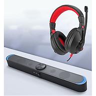 Combo Loa Vi Tính Thông Minh V-198, Hỗ Trợ Bluetooth, Karaoke, Hiệu Ứng Đèn Led Mặt Trăng Cao Câp + Tặng Tai Nghe Chụp Tai Chuyên Game Cao Cấp thumbnail