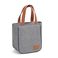 Túi đựng hộp cơm cao cấp. Túi giữ nhiệt đa năng nhiều lớp. Túi đựng đồ ăn trưa. Túi chống toả nhiệt, dày dặn, phong cách Hàn Quốc thời trang, hiện đại KORESTAB8001 thumbnail