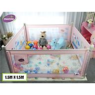 Combo 4 thanh chắn giường Mastela có thể sử dụng làm quây bóng cho bé kích thước 150x150cm thumbnail
