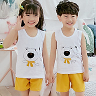 Bộ đồ cho bé gái hình thú chất liệu thun cotton tháng mát 103-Gái thumbnail