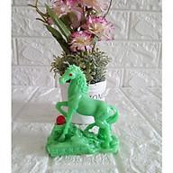 Tượng ngựa đá poly xanh ngọc bích nhũ NXB10 thumbnail