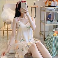 Váy đầm 2 dây mặc nhà dáng suông đuôi cá DV01 thumbnail