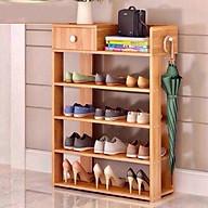 Tủ giầy khung gỗ 5 tầng tiện dụng Màu ngẫu nhiên thumbnail