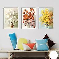 Tranh treo tường, tranh đồng hồ DH2983A bộ 3 tấm ghép thumbnail