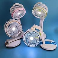 Quạt tích điện gập xoay 360 độ có kèm đèn LR2019 thumbnail