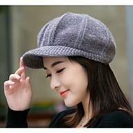 Mũ Len Nữ FOOTBALL Bere lông thỏ Nón Len Nữ Beret FOOTBALL thời trang Hàn Quốc - DONA21012101 thumbnail