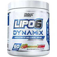 Thực phẩm bổ sung Pre-workout Nutrex Lipo 6 Dynamix kết hợp đốt mỡ, tăng sức mạnh 2 trong 1 - vị Strawberry Kiwi - 60 liều dùng - Chính hãng BBT thumbnail