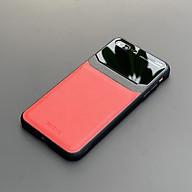 Ốp lưng da kính cao cấp dành cho iPhone 7 Plus iPhone 8 Plus - Màu đỏ - Hàng nhập khẩu - DELICATE thumbnail
