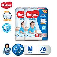 Combo 2 tã dán Huggies Diapers Super Jumbo M76 thumbnail