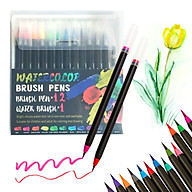 Watercolor Brush Pens with Soft Flexible Brush Tips Artists Painting Markers Water Soluble Ink Refillable thumbnail