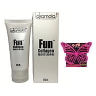 Gel Bôi Trơn Dạng Gốc Nước Okamoto Fun Collagen 60ml Nhật Bản - Hàng Chính Hãng 100% - Tặng Bcs Jex 1 Chiếc - Che Tên Sản Phẩm thumbnail