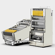 Túi hạt mạng RJ45 AMPCOM cho dây cáp CAT5E bọc kim loại mạ Niken (100 chiếc Túi) AMCAT5EB100 - Hàng chính hãng thumbnail