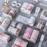 Set 10 cuộn băng dính washi tape họa tiết anh đào, Van Gogh dễ thương thumbnail