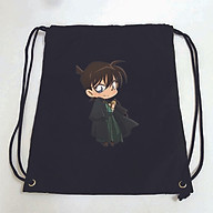 Balo dây rút đen in hình THÁM TỬ LỪNG DANH anime chibi Detective Conan túi rút đi học xinh xắn thời trang thumbnail