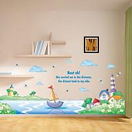 Decal dán tường trang trí lớp mầm non, chân tường, phòng cho bé- Chân tường đại dương- mã sp DXL7175 thumbnail