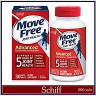 Viên Uống Schiff Move Free Joint Health Advanced Glucosamine + Chondroitin 200 Viên - NK Hàng Nội Địa Mỹ - Giảm Đau Nhức Xương Khớp, Bổ Sung Chất Nhờn, Nuôi Dưỡng Xương Sụn Khớp thumbnail