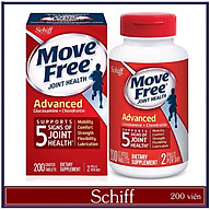 Viên Uống Schiff Move Free Joint Health Advanced Glucosamine Chondroitin 200v hỗ trợ 5 triệu chứng Xương Khớp, Nuôi Dưỡng Các Khớp Chắc Khỏe và Linh Hoạt ở người già hoặc vận động nhiều thumbnail