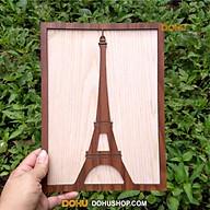 Tranh Treo Tường Bằng Gỗ Handmade DOHU018 Tháp Eiffel - Thiết Kế Đơn Giản, Độc Đáo, Sang Trọng thumbnail