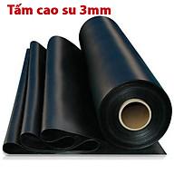 Tấm cao su dày 3mm giảm chấn, chịu lực, chịu nhiệt độ cao, chống trơn trượt, chống rung, chịu dầu, chống cháy, cách âm dùng để lót sàn làm gioăng giá nhà sản xuất, cuộn cao su tấm giá rẻ thumbnail