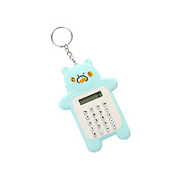 Portable Cute Cartoon Calculator Mini Bear Calculator 8 Digits Display with Keychain Button Battery Pocket Size thumbnail