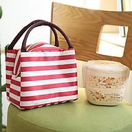 Túi Đựng Hộp Cơm Kẻ To Giữ Nhiệt Tiện Dụng thumbnail