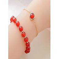 Bộ 2 vòng tay đá thạch anh đỏ 8 ly + Tặng hộp quà bằng gỗ cao cấp thumbnail