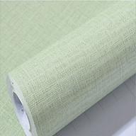 5m dài giấy dán tường có keo sẵn, hàng loại 1, chất dày dặn- chất liệu giả vải xanh nõn chuối thumbnail