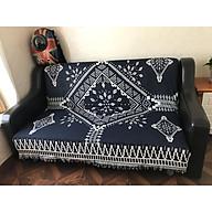 Chăn thảm phủ ghế sofa phối hợp làm thảm trải sàn kim cương - 180x180cm thumbnail