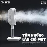 Quạt sạc mini để bàn YOOBAO F1 10000mAh 4 chế độ gió Góc xoay 45 độ An toàn cho trẻ- Bảo hành 12 tháng thumbnail