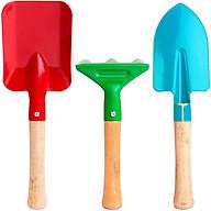 Bộ Dụng Cụ Cuốc Xẻng Làm Vườn Trồng Cây Mini 03 Chiếc - Home Basics thumbnail