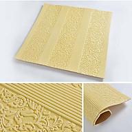 Bộ 10 tấm xốp dán tường 3D hoa văn cổ điển - 70 x 70 cm thumbnail
