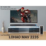 Loa soundbar 2.1 Lohao MAV 2235 kèm sub hơi 2 tấc - loa Ti vi, vi tính soundbar 2.1 stereo âm thanh vòm 3D - Kết nối Bluetooth 5.0, kèm remote - 2 loa vệ tinh kèm sub hơi 2 tấc - Tổng công suất 260W - Có thể lắp ghép thành 1 loa dài - Hàng nhập khẩu thumbnail