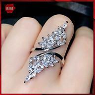 Nhẫn bạc nữ bướm nạm đá zircon cao cấp - Trang sức Bé Heo BHN123 thumbnail