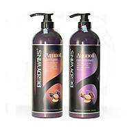 Bộ dầu gội xả BERDYWINS Argan Oil siêu mượt phục hồi tóc hư tổn 500ML thumbnail