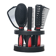 Set of 5 Hair Combs Mirror Set Professional Salon Hair Cutting Brushes Sets Salon Hairdressing Styling Tool And Holder thumbnail