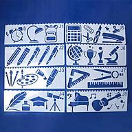 Bộ 8 Thước Vẽ Mỹ Thuật Trang Trí Sáng Tạo - Đồ Dùng Học Sinh thumbnail