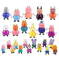 Bộ 12 búp bê Peppa Pig bổ sung cho trò chơi ngôi nhà, sân chơi và hoạt cảnh của gia đình heo Peppa và những người bạn thumbnail