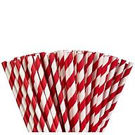 Ống hút giấy trắng đỏ dùng 1 lần thân thiện với môi trường.Sử dụng cho mọi loại đồ uống giải khát, nước ngọt, trà, cà phê thumbnail
